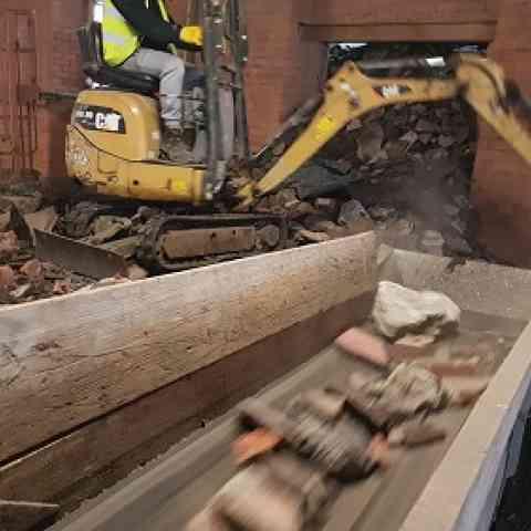 Demolition: Listed Mill, Manchester [EK 600 & GP750]