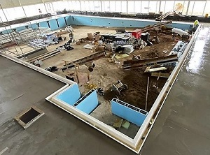 Construction: Hornchurch Leisure Centre Backfill project [EK 450 & Invader 45]