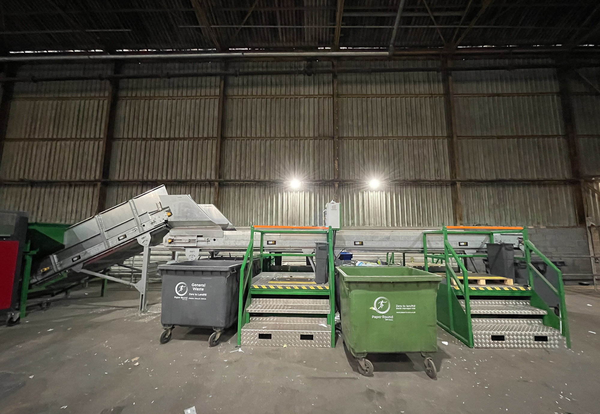 Paper Round waste and recycling facility [Bespoke picking station]